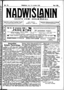 Nadwiślanin. Gazeta Ziemi Chełmińskiej, 1926.09.14 R. 8 nr 74