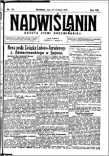 Nadwiślanin. Gazeta Ziemi Chełmińskiej, 1926.09.29 R. 8 nr 78