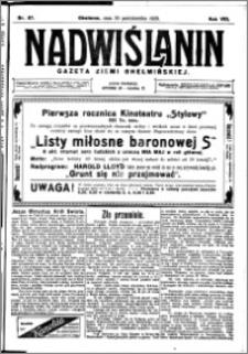Nadwiślanin. Gazeta Ziemi Chełmińskiej, 1926.10.30 R. 8 nr 87