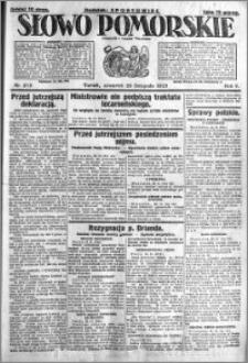 Słowo Pomorskie 1925.11.26 R.5 nr 275