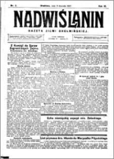 Nadwiślanin. Gazeta Ziemi Chełmińskiej, 1927.01.08 R. 9 nr 2