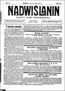 Nadwiślanin. Gazeta Ziemi Chełmińskiej, 1927.01.12 R. 9 nr 3