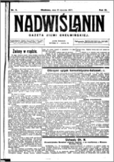Nadwiślanin. Gazeta Ziemi Chełmińskiej, 1927.01.19 R. 9 nr 5