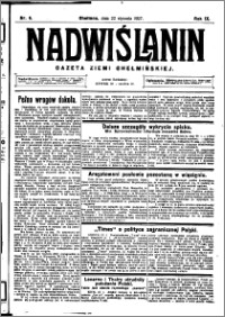 Nadwiślanin. Gazeta Ziemi Chełmińskiej, 1927.01.22 R. 9 nr 6