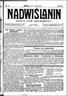 Nadwiślanin. Gazeta Ziemi Chełmińskiej, 1927.02.02 R. 9 nr 9