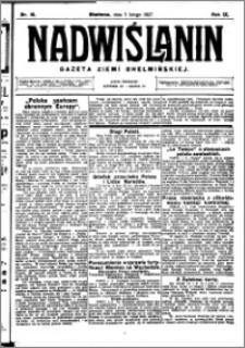 Nadwiślanin. Gazeta Ziemi Chełmińskiej, 1927.02.05 R. 9 nr 10