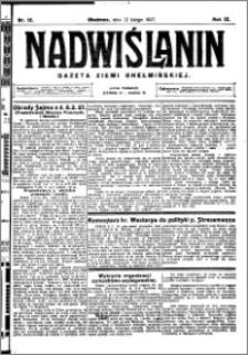 Nadwiślanin. Gazeta Ziemi Chełmińskiej, 1927.02.12 R. 9 nr 12