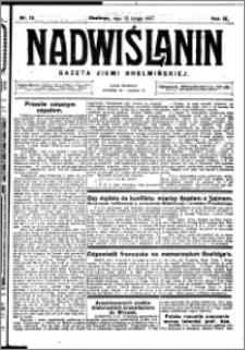 Nadwiślanin. Gazeta Ziemi Chełmińskiej, 1927.02.16 R. 9 nr 13