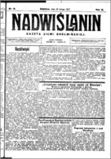 Nadwiślanin. Gazeta Ziemi Chełmińskiej, 1927.02.23 R. 9 nr 15