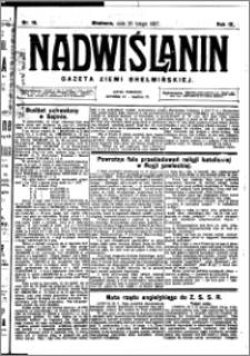 Nadwiślanin. Gazeta Ziemi Chełmińskiej, 1927.02.26 R. 9 nr 16