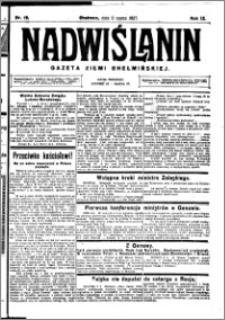 Nadwiślanin. Gazeta Ziemi Chełmińskiej, 1927.03.09 R. 9 nr 19