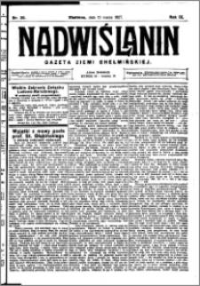 Nadwiślanin. Gazeta Ziemi Chełmińskiej, 1927.03.12 R. 9 nr 20