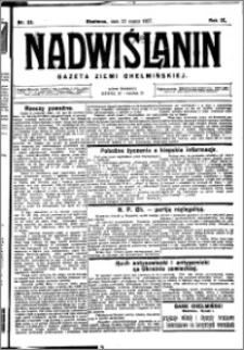 Nadwiślanin. Gazeta Ziemi Chełmińskiej, 1927.03.23 R. 9 nr 23