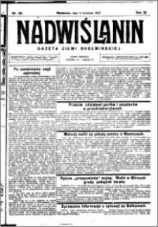 Nadwiślanin. Gazeta Ziemi Chełmińskiej, 1927.04.02 R. 9 nr 26