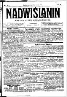 Nadwiślanin. Gazeta Ziemi Chełmińskiej, 1927.04.13 R. 9 nr 29