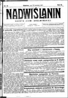 Nadwiślanin. Gazeta Ziemi Chełmińskiej, 1927.04.20 R. 9 nr 31
