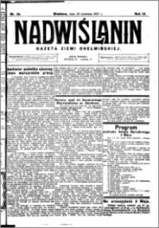Nadwiślanin. Gazeta Ziemi Chełmińskiej, 1927.04.30 R. 9 nr 34