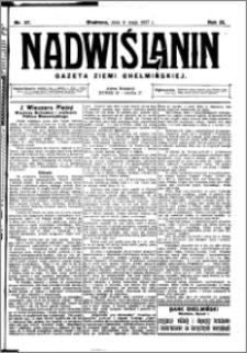 Nadwiślanin. Gazeta Ziemi Chełmińskiej, 1927.05.11 R. 9 nr 37