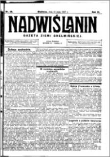 Nadwiślanin. Gazeta Ziemi Chełmińskiej, 1927.05.14 R. 9 nr 38