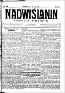 Nadwiślanin. Gazeta Ziemi Chełmińskiej, 1927.05.21 R. 9 nr 40