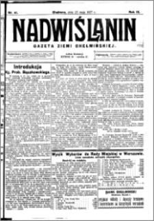 Nadwiślanin. Gazeta Ziemi Chełmińskiej, 1927.05.25 R. 9 nr 41