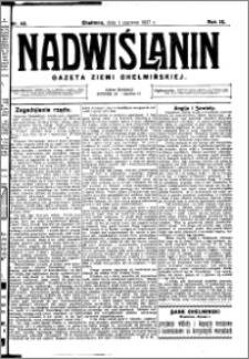 Nadwiślanin. Gazeta Ziemi Chełmińskiej, 1927.06.01 R. 9 nr 43