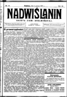 Nadwiślanin. Gazeta Ziemi Chełmińskiej, 1927.06.04 R. 9 nr 44
