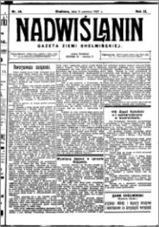 Nadwiślanin. Gazeta Ziemi Chełmińskiej, 1927.06.08 R. 9 nr 45