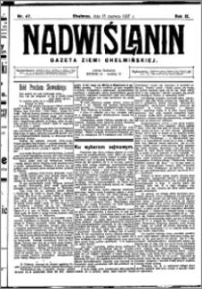 Nadwiślanin. Gazeta Ziemi Chełmińskiej, 1927.06.15 R. 9 nr 47