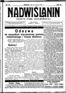 Nadwiślanin. Gazeta Ziemi Chełmińskiej, 1927.06.18 R. 9 nr 48