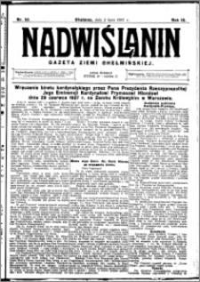Nadwiślanin. Gazeta Ziemi Chełmińskiej, 1927.07.02 R. 9 nr 52