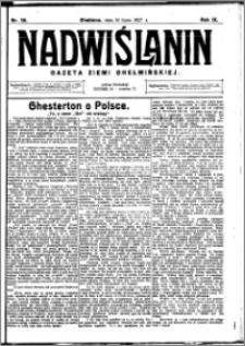Nadwiślanin. Gazeta Ziemi Chełmińskiej, 1927.07.16 R. 9 nr 56