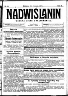 Nadwiślanin. Gazeta Ziemi Chełmińskiej, 1927.08.03 R. 9 nr 61