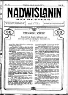 Nadwiślanin. Gazeta Ziemi Chełmińskiej, 1927.08.20 R. 9 nr 66