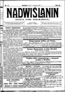 Nadwiślanin. Gazeta Ziemi Chełmińskiej, 1927.09.07 R. 9 nr 71