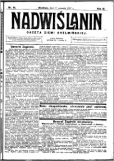 Nadwiślanin. Gazeta Ziemi Chełmińskiej, 1927.09.17 R. 9 nr 74