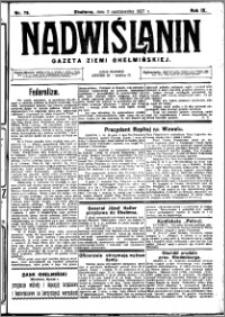 Nadwiślanin. Gazeta Ziemi Chełmińskiej, 1927.10.05 R. 9 nr 79