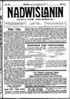 Nadwiślanin. Gazeta Ziemi Chełmińskiej, 1927.10.22 R. 9 nr 84