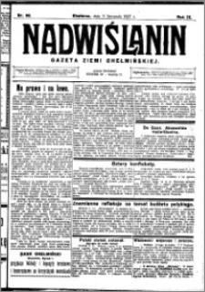Nadwiślanin. Gazeta Ziemi Chełmińskiej, 1927.11.05 R. 9 nr 88