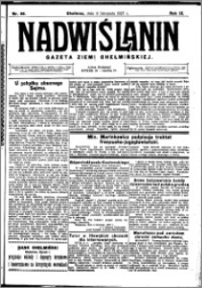 Nadwiślanin. Gazeta Ziemi Chełmińskiej, 1927.11.09 R. 9 nr 89