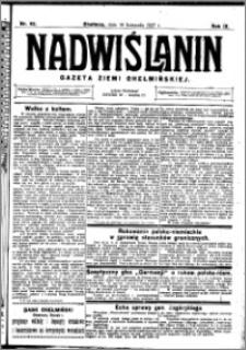 Nadwiślanin. Gazeta Ziemi Chełmińskiej, 1927.11.19 R. 9 nr 92