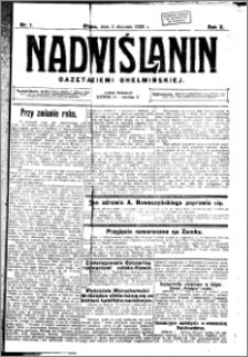 Nadwiślanin. Gazeta Ziemi Chełmińskiej, 1928.01.03 R. 10 nr 1
