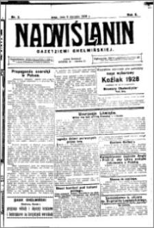 Nadwiślanin. Gazeta Ziemi Chełmińskiej, 1928.01.06 R. 10 nr 2