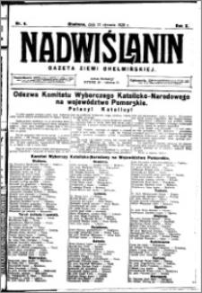 Nadwiślanin. Gazeta Ziemi Chełmińskiej, 1928.01.21 R. 10 nr 6