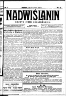 Nadwiślanin. Gazeta Ziemi Chełmińskiej, 1928.01.25 R. 10 nr 7