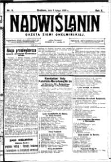 Nadwiślanin. Gazeta Ziemi Chełmińskiej, 1928.02.08 R. 10 nr 11