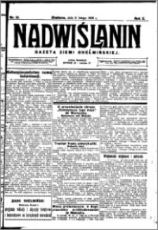 Nadwiślanin. Gazeta Ziemi Chełmińskiej, 1928.02.11 R. 10 nr 12