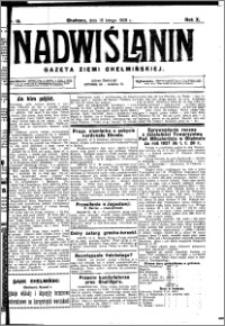 Nadwiślanin. Gazeta Ziemi Chełmińskiej, 1928.02.15 R. 10 nr 13