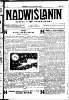Nadwiślanin. Gazeta Ziemi Chełmińskiej, 1928.02.18 R. 10 nr 14
