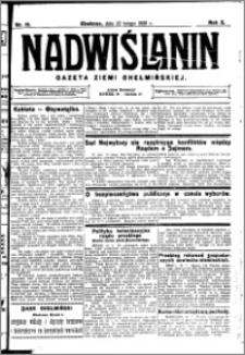 Nadwiślanin. Gazeta Ziemi Chełmińskiej, 1928.02.22 R. 10 nr 15